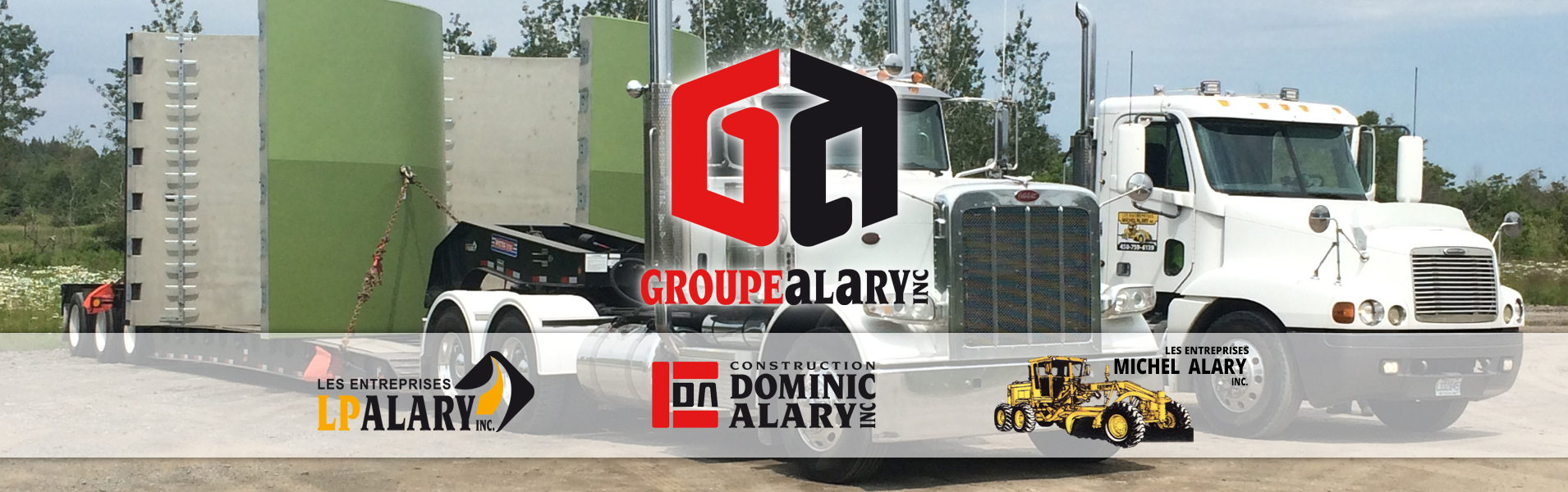 Groupe Alary | Les entreprises LP Alary, Construction Dominic Alary, Les entreprises Michel Alary